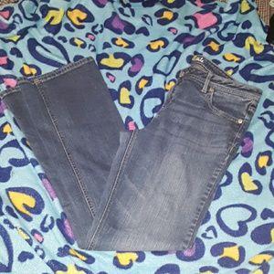 aeropostale womens 12 Chelsea bootcut blue jeans